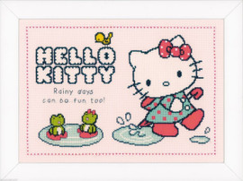Hello Kitty: Rainy days  Cross Stitch Kit By Vervaco