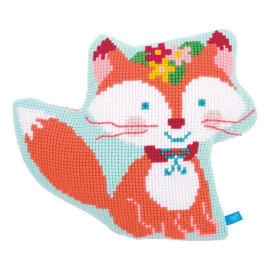 Lief!: Small Fox Cross Stitch Cushion Chunky Cross Stitch Kit By Vervaco