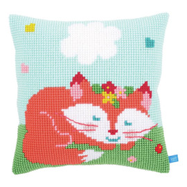 Lief! Sleeping Fox Cross Stitch Chunky Cushion Kit By Vervaco