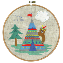 Lief! Indian Bear - Tepee Counted Cross Stitch Kit By Vervaco
