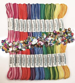 Zenbroidery Variegated Trim Pack Conton Fabric by Design Works