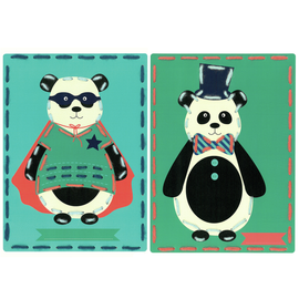 Circus (Set of 2) Cards  Embroidery Kit By Vervaco