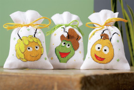 Maya: Maya, Willy and Flip (Set of 3)  Pot Pourri Bags By Vervaco