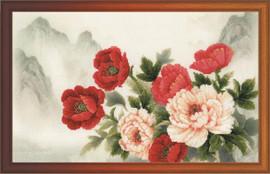 Oriental Bouquet Cross Stitch Kit By Riolis