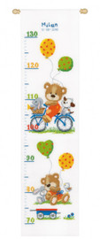 Playful Bear Height Chart Cross Stitch Kit By Vervaco