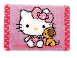 Kitty and Dog Latch Hook Rug Kit By Vervaco
