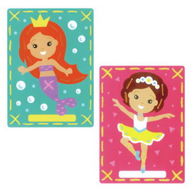 Princesses ll (set of 2) Embroidery card for children 3+ By Vervaco