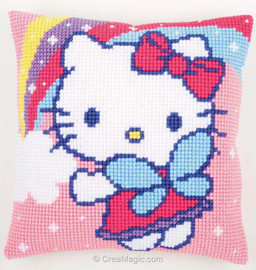 Kitty and Rainbow Chunky Cross Stitch Kit By Vervaco
