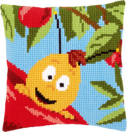 Willy on Apple Chunky Cross Stitch Kit By Vervaco