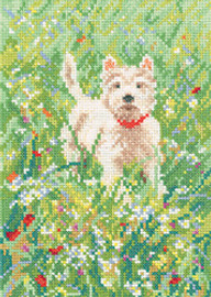 The Scamp Cross Stitch Kit By Leslie Stones