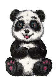 Patch the Panda Latch Hook Rug  By Grafitec