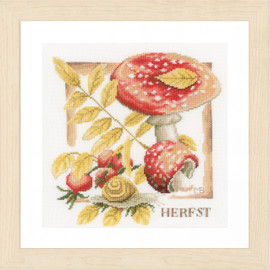 Fall Cross Stitch Kit By Lanarte