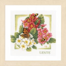 Spring Cross Stitch Kit By Lanarte