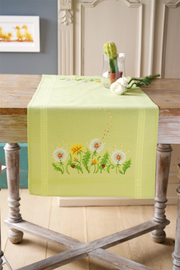 Embroidery Kit: Runner: Dandelions By Vervaco
