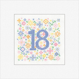 '18' 'Occasions' Cross Stitch Card Kit By Heritage