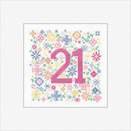 '21' 'Occasions' Cross Stitch Card Kit By Heritage