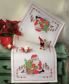 Santa Claus Runner Cross Stitch Kit By Anchor