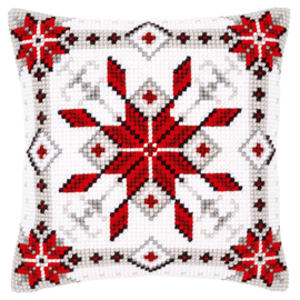 Snow Crystal I Cross Stitch Cushion Kit by Vervaco