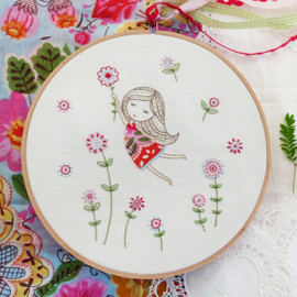 Girl with Red Dress Embroidery Kit By DMC