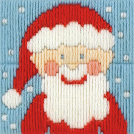 1st Kit: Santa Long Stitch Kit By Royal Paris