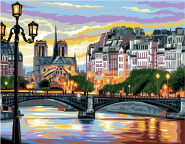 Paris Scene Canvas By Royal Paris
