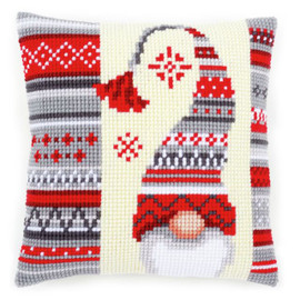 Christmas Elf 2 Chunky Cross Stitch Cushion Kit By Vervaco
