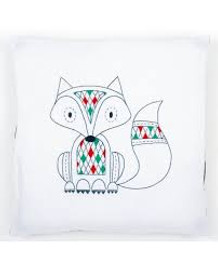 Embroidery: Cushion: Fox Kit By Vervaco
