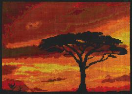 Savannah Sunset counted cross stitch By DMC