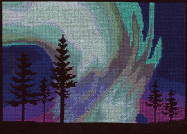 Northern Lights counted cross stitch By DMC