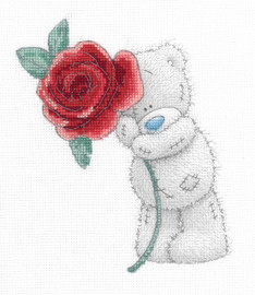Rose Me To You printed cross stitch By DMC