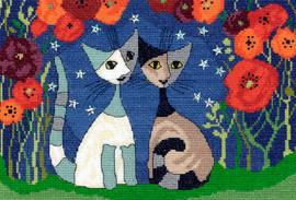 Poppy Nights Cross Stitch Kit by Bothy Threads