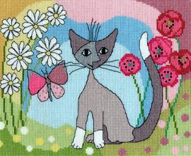 Lazy Daisy Cross Stitch Kit By Bothy Threads