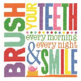 Brush Your Teeth  Cross Stitch Kit by Janlynn