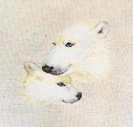 Polar Bears  Cross Stitch Kit By Luca S