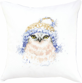 Owl Pillow  Cross Stitch Kit By Luca S
