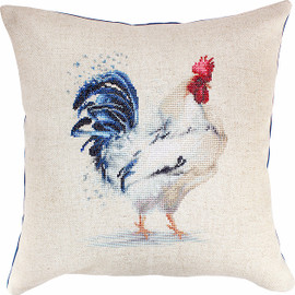 The Rooster Pillow  Cross Stitch Kit By Luca S