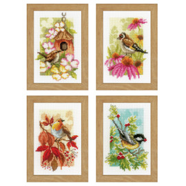 Miniatures 4 Seasons (Set of 4)  Counted Cross Stitch Kit By Vervaco