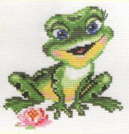 Beautiful Frog Cross Stitch Kit by Alisa