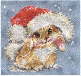 Winter bunny Cross Stitch Kit by Alisa