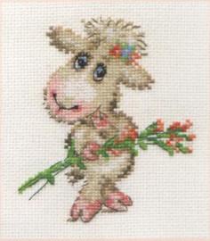 Pretty Lamb Cross Stitch Kit by Alisa