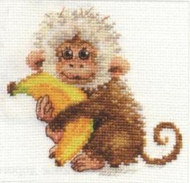 Monkey Cross Stitch Kit by Alisa