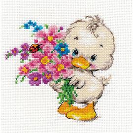 Wish you happiness Cross Stitch Kit by Alisa