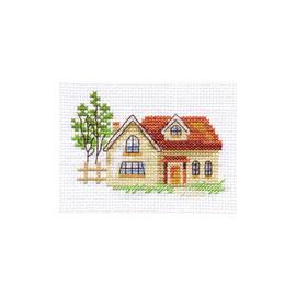 Sunny House Cross Stitch Kit by Alisa