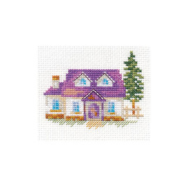 House in the Forest Cross Stitch Kit by Alisa