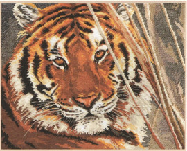 Tiger Cross Stitch Kit by Alisa
