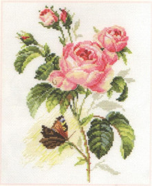 Rose and Butterfly Cross Stitch Kit by Alisa