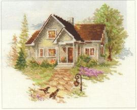 July House Cross Stitch Kit by Alisa