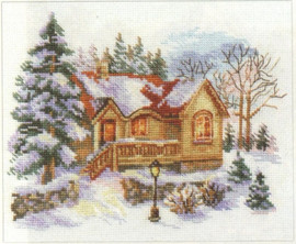 February house Cross Stitch Kit by Alisa