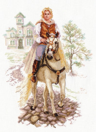 Prince on the white horse Cross Stitch Kit by Alisa