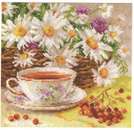 Afternoon Tea Cross Stitch Kit by Alisa